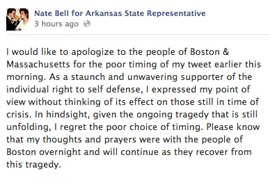 Nate Bell Twitter Apology